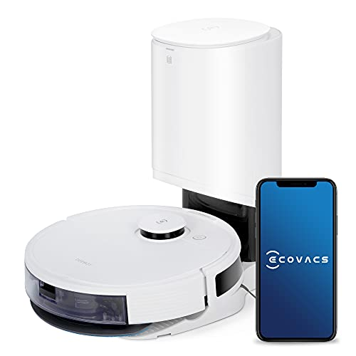ECOVACS DEEBOT N8+ Robot aspirapolvere 2-in-1 Aspira e Lava,con Stazione di Svuotamento Automatico,Modalità Max+,Pulizia personalizzata,Mappatura multilivello, Barriere virtuali, Controllo APP & Alexa