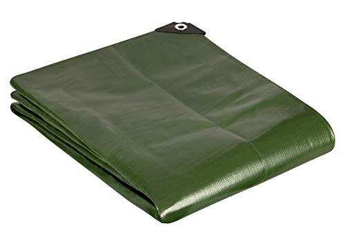 GardenMate 2m x 3m Teloni Protettivi Premium 200 g/m² Telone di Tessuto per Coprire, Proteggere, Telone per Barche - Verde, Alta Qualità