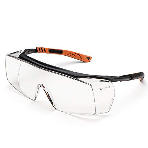 Occhiali protettivi/sovraocchiale modello 5X7 con lente clear
