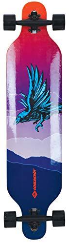 Schildkröt Longboard Freeride 41', Legno d'Acero a 9 Strati, Tavola Completa con Sospensione dell'Asse Passante, Cuscinetto a Sfere ABEC-11, Design: God Feather, 510691