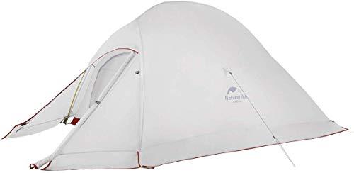 Naturehike Nuovo Cloud-up 2 Persona Tenda Aggiornata Doppio Strato Tenda Tende da Escursioni (20D Grigio con Gonna)