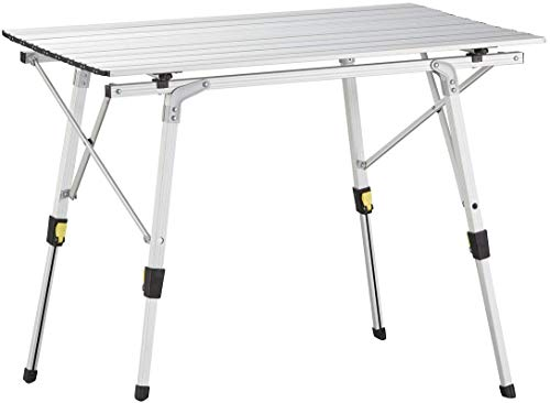 Nestling 91 x 52cm, Tavolo Pieghevole Da Campeggio in Alluminio -Regolabile In Altezza Portatile Da Tavolo Da Giardino/Barbecue/Tour Self-Driving + (Spalle Borsa) (91 x 52cm)