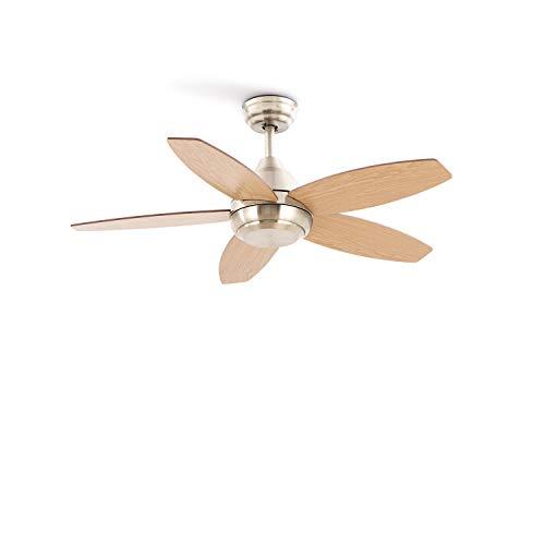 CREATE IKOHS FLOWOOD STYLANCE NICKEL - Ventilatore da soffitto (Senza luce)