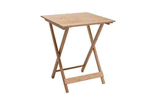 Tavolo pieghevole in legno, 60x60x75 cm
