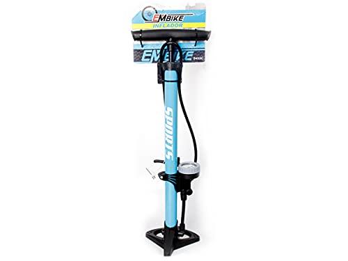 Pompa Bici Con Manometro Da Pavimento, Gonfiatore Per Pneumatici Biciclette Professionale, 160 Psi Valvola Presta e Schrader (Blu)