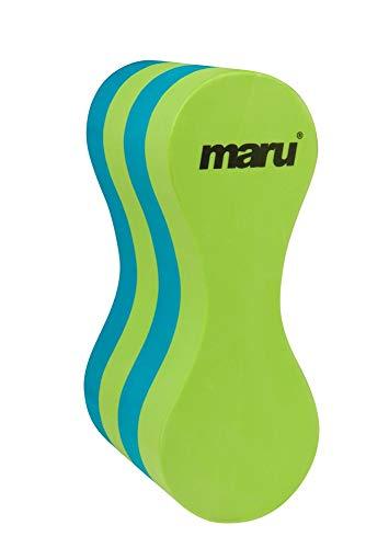 maru Salvagente per Nuoto, Pull Buoy, Lime/Blu, Bambini