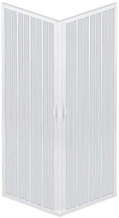 Box Doccia A Soffietto Liberte' 80x80 CM Angolare Riducibile Colore Bianco Pastello