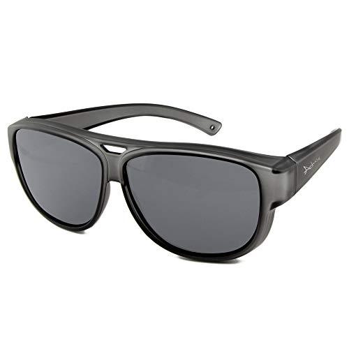 ActiveSol Sovraocchiali da sole di design   Occhiali modello aviatore   Occhiali da sole sovrapponibili con protezione UV400   polarizzati   24 grammi