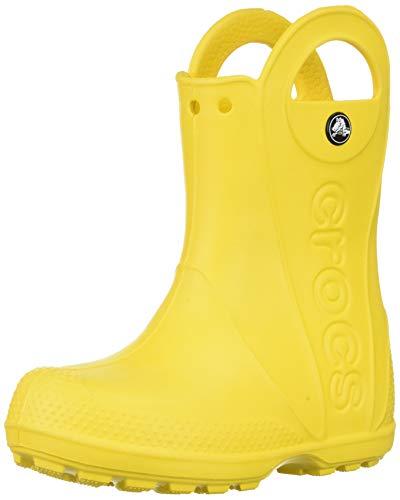 Crocs Handle It Rain Boot Unisex - Bambini Stivali da pioggia, Stivali di Gomma, Giallo (Yellow), 23/24 EU