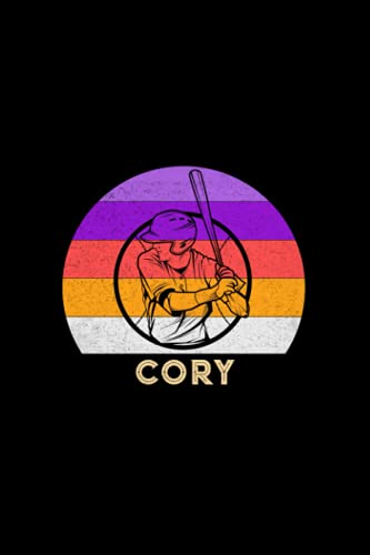 Cory Name Gift Personalized Baseball Notebook Planner, Daily Journal for Sport Lovers: Life, Work List, Meal, 5.24 x 22.86 cm, Mom, 120 Pages, Journal, 6x9 inch, Diary, A5