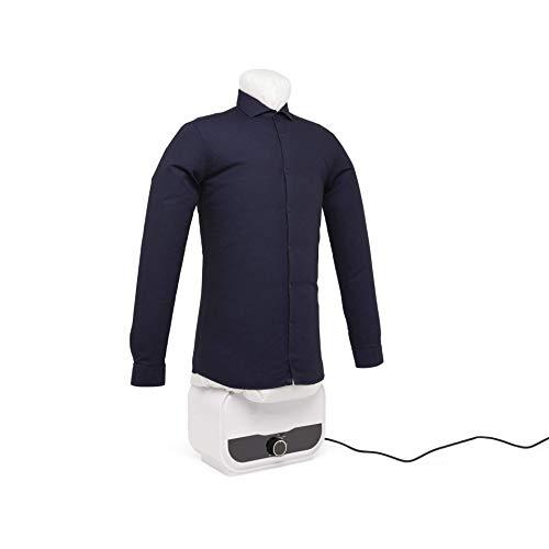 dmail - Stira Camicie e Pantaloni Automatico, Manichino Stiratura e Asciugatura dei Vestiti in Verticale in plastica, Alluminio e Poliestere, Bianco, 95x44x18