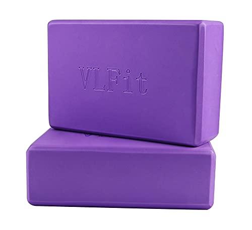 VLFit 2 Pezzi Blocchi Yoga - Eva Schiuma Supporto Blocco per Yoga, Pilates e Stretching