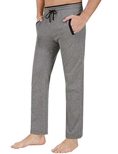 Sykooria Pantaloni Sportivo Uomo Pantaloni Tuta Uomo da Jogging in Cotone Sport Pants Corsa Comodo e Leggero