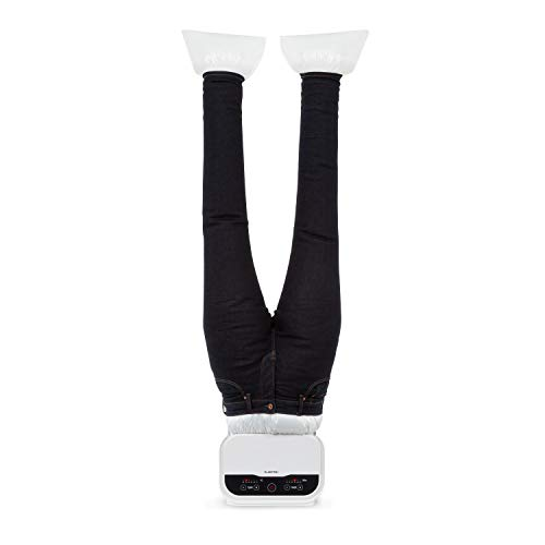 KLARSTEIN ShirtButler Pro - Sistema 2in1 Automatico di Asciugatura e Stiratura per Pantaloni, 1200 W, Easy-Dry, Multi Size: S-XL, Thermal Safety System, Materiale: Nylon Oxford, Bianco