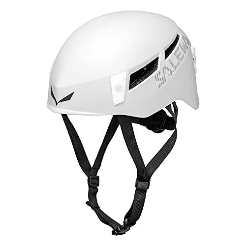 Salewa Pura - Casco hard shell, robusto e versatile, Per tutte le avventure alpine, Unisex adulto, Bianco (White), S/M