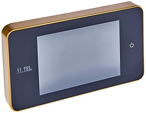 VI.TEL. E0378 40 Spioncino Digitale 4.0', LCD, Angolo Visuale: 110°, Oro