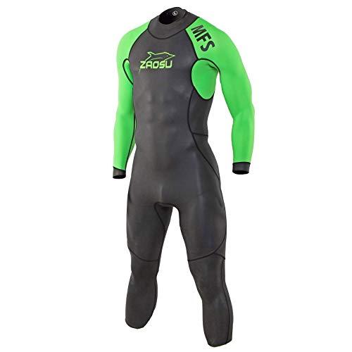 ZAOSU MFS - Muta da uomo in neoprene per triathlon | Wetsuit per nuoto acquatico, colore: Verde fluo, taglia: ML