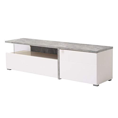 Maeva Mobile Porta TV, Wood, Bianco, Medium