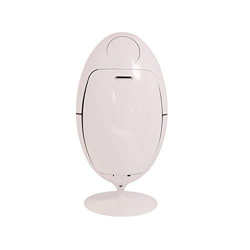 SoldiDesign Ovetto Contenitore per la Raccolta Differenziata, ABS, Bianco