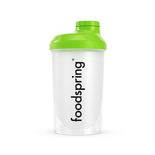foodspring - Shaker da 500ml - Lo Shaker perfetto per le tue proteine - Incluso il filtro per rendere il tuo shake più cremoso, con tappo a vite per una chiusura sicura
