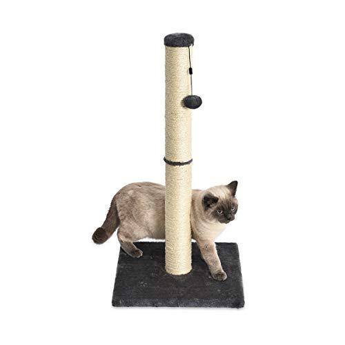 Amazon Basics - Palo tiragraffi per gatti, medio, 40,6 x 40,6 x 81,28 cm, grigio