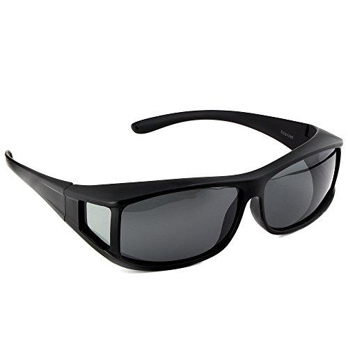 ACTIVE SOL Sovraocchiali da sole   UV400 Occhiali da sole clip-on da uomo   polarizzati   Occhiali clip-on polarizzati per chi porta occhiali da vista