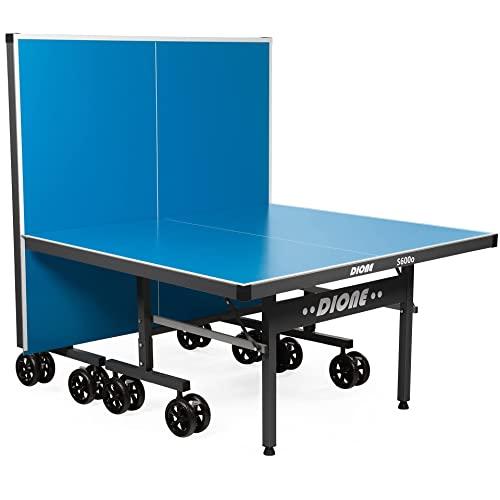 Dione Tavolo da Tennis S600o – 6mm Top – Outdoor Pieghevole – Tavolo da Ping Pong Arrotolabile per Esterni – Resistente alle intemperie Tavolo 65 kg – 10 Minuti di Installazione - Grandi Ruote