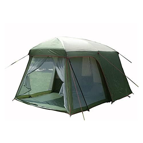 Tenda da campeggio Ultralarge di alta qualità una sala con una camera da letto 5-8 persona doppia strato di 200 cm altezza impermeabile tenda da campeggio in grande promozione Prezzo Tenda da campeggi