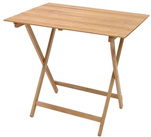 SF SAVINO FILIPPO Tavolo tavolino Pieghevole richiudibile in Legno Naturale 77x60 cm Campeggio casa in faggio per casa Campeggio Giardino PIC nic