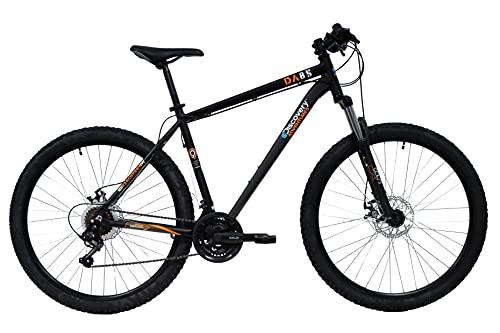 Mountain bike Discovery 27.5'' con forcella ammortizzata, freni a disco e cambio Shimano, nero