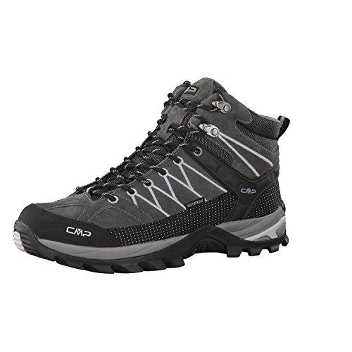 CMP Rigel Mid Trekking Shoe Wp, Scarpe Alta Uomo, Grigio (Grey U862), 43 EU