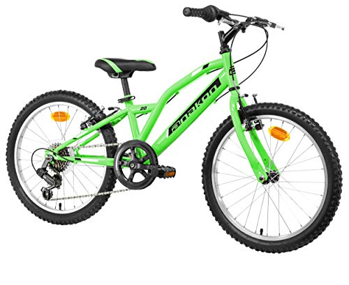 Anakon Hawk Six, Mountain Bike Bambino, Verde, 7-9 Anni