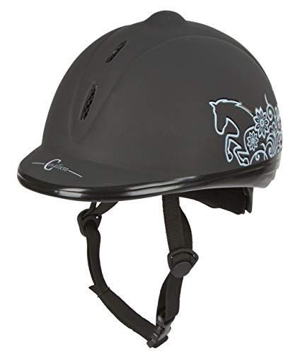 Covalliero Beauty VG1 Casco da equitazione, unisex, nero, unisex, Helm Reithelm Beauty VG1, Black - black, 53-57 cm