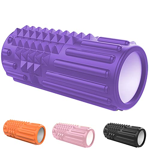 Foam Roller Rulli in Schiuma per fanno un Massaggio ai Tessuti Profondi - Rullo Massaggiatore Automassaggio Muscolare a Rilascio Miofasciale (viola)