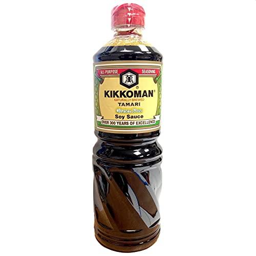 KIKKOMAN Tamari Glutine salsa di soia 1 Litro (1L)