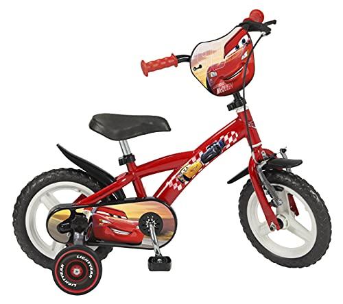 TOIMS - Bicicletta da 12' (30,48 cm), Motivo Cars, per Bambini di 3-5 Anni