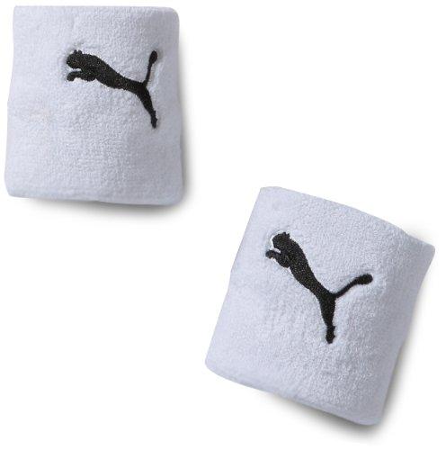 PUMHB|#Puma Cat Wristband, Sweatband Unisex – Adulto, White-Black, Taglie Unica