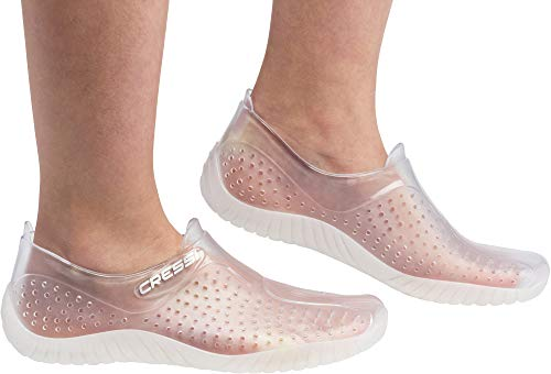 Cressi Water Shoes, Scarpette Sportive Uso Acquatico/Mare/Spiaggia Adulti, Ragazzi e Bambini, Trasparente, 39 EU