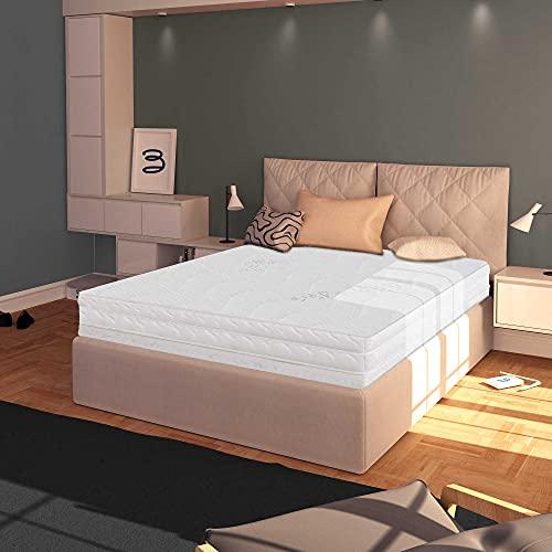 Baldiflex Materasso Piazza e Mezza 120x200 cm, Easy Silver Altezza 15 cm, Fodera in Silver Safe + Cuscino Omaggio