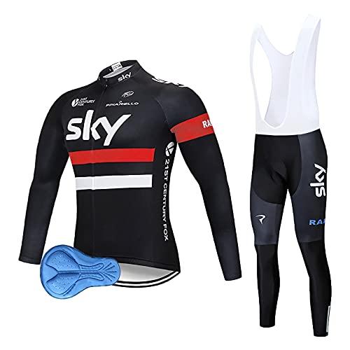 XM Abbigliamento Ciclismo Set Tuta Ciclismo Uomo Completo Ciclismo Per Bici Da MTB Con Imbottiti in 3D Gel Traspirante e Ad Asciugatura Rapida Nero (Rosso, L)