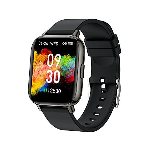 Smartwatch, 1,69'' Orologio Fitness Uomo Donna Smart Watch sportivo con 24 Ore Cardiofrequenzimetro da Polso, Contapassi, Notifiche Messaggi, Activity Tracker Impermeabile IP68, 24 Modalità Sportive