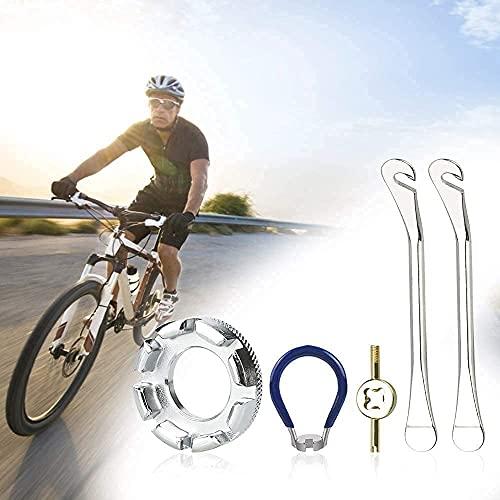 LYTIVAGEN 5 Pezzi Taraggi per Bicicletta, Park Tool Tiraraggi, Leve Pneumatici Bicicletta, Strumento per Rimozione Volva Bici