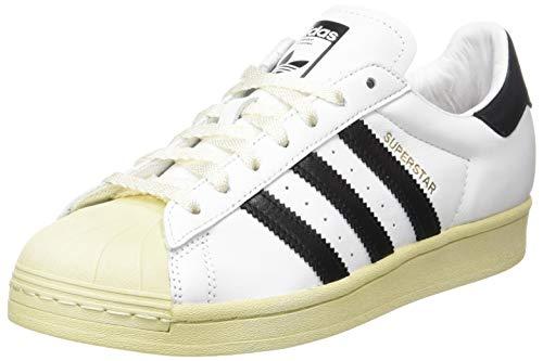 adidas Superstar, Scarpe da Ginnastica Uomo, Ftwr White/Core Black/Blue, 44 2/3 EU