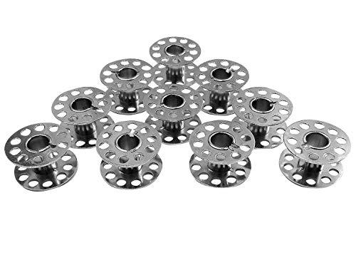 10 bobine in metallo (CB) per macchina da cucire Singer Brilliance 6180, 6280, 6160, 6199