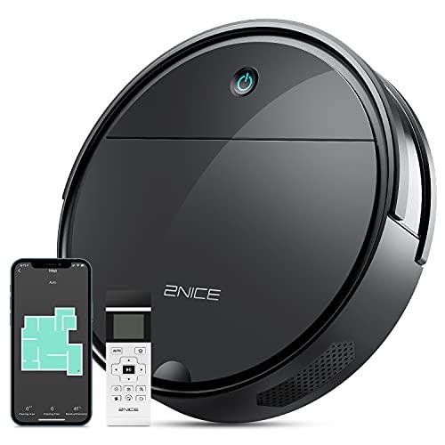 Robot Aspirapolvere con Mappatura 2NICE, WiFi/App/Alexa/Google/ Aspirapolvere Robot Silenzioso, Ricarica Automatico, 110 min, 2300Pa Robottino Aspirapolvere per Peli di Animali, Pavimenti, Tappeti