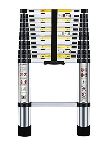 Nestling 3.8M Scala Telescopica Pieghevole, Multiuso Allungabile Scaletta Alluminio, Carico Massimo 150 kg,Norme EN131
