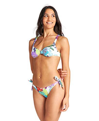 ARENA Allover Bikini con Ferretto, White Multi/Multicolore, 46