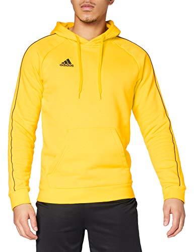 Adidas Core 18, Felpa con Cappuccio, L, Giallo