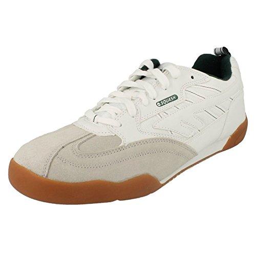 HI-TEC 62622, Scarpe da Squash e Badminton, Uomo, Bianco, 40.5 EU