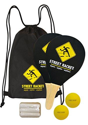 Schildkröt Funsports Set di Street Racket, 2 Racchette in Legno, 2 Softball, Gesso per Segnare il Campo di Gioco, in una Borsa, 970115